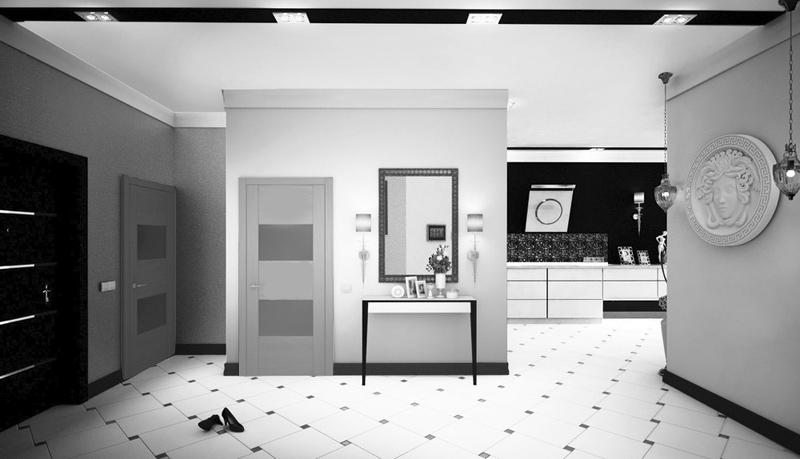 двери Волховец quadro матовыф серый темный интерьер фото